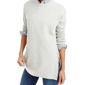 J. Crew Gray Merino Wool Oversized Tunic Sweater